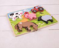 Dřevěné hračky Bigjigs Toys Vkládací puzzle farma