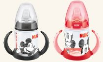 NUK First Choice lahvička na učení Mickey Mouse 150 ml červená
