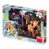 Dino  puzzle 3x55 dílků - Doba ledová V.