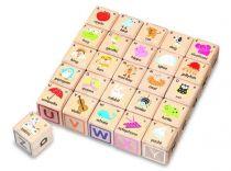 Dřevěné hračky - ABC kostky
