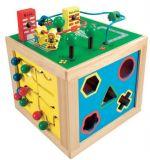 Dřevěné hračky - Dřevěná motorická kostka