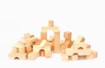 Dřevěné kostky přírodní