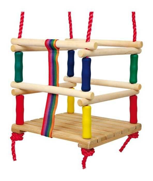 Dřevěné hračky Small Foot Dřevěné venkovní hračky houpačka s ohrádkou Small foot by Legler
