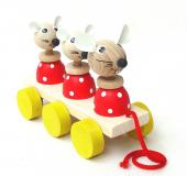 Tahací hračky na liště – MYŠKY