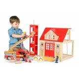 Dřevěné hračky Tidlo Dřevěná hasičská stanice
