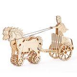 Wooden City 3D dřevěné mechanické puzzle Římský vůz