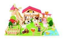 Bigjigs Toys - Velká dřevěná farma - poškozený obal