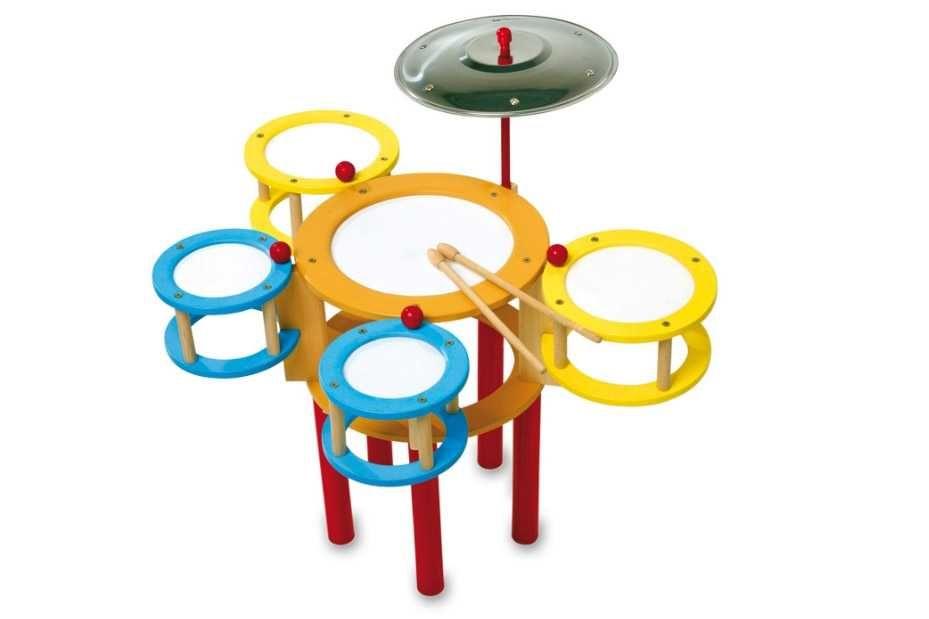 Dřevěné hračky Small Foot Dětské dřevěné barevné bubny Small foot by Legler