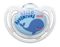 NUK Dudlík Freestyle V1 (0-6 měs.) modrý s tučňákem