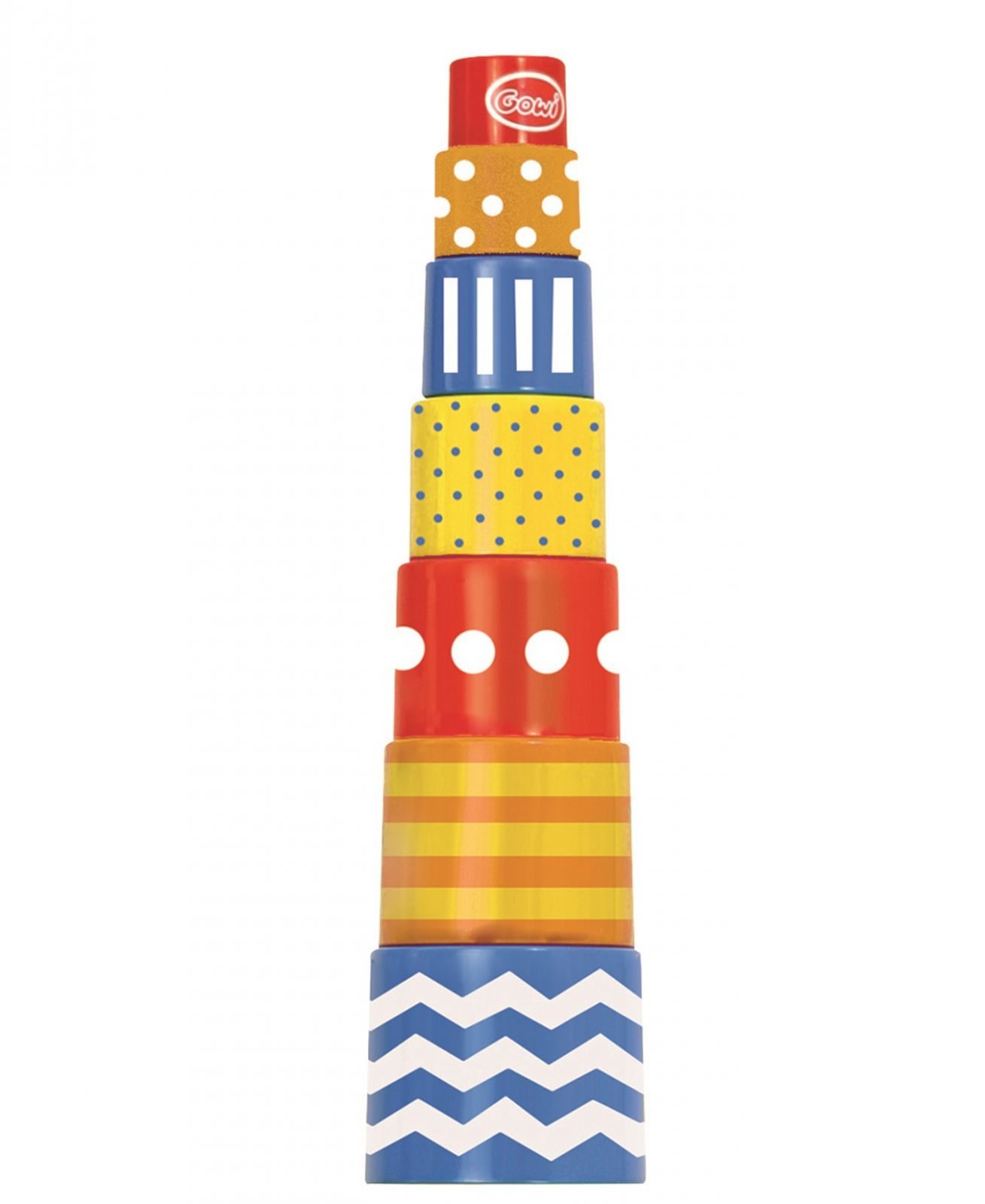 Dřevěné hračky Gowi Retro pyramida 7dílků