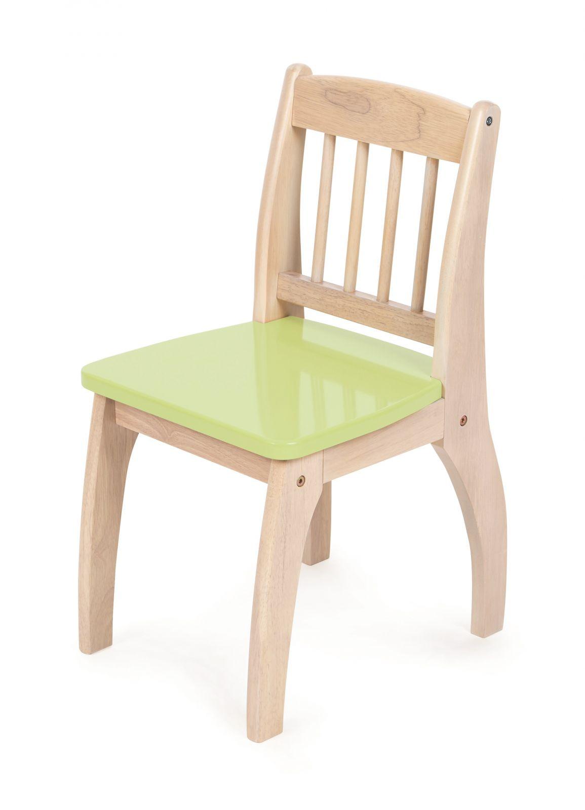 Dřevěné hračky Tidlo Dřevěná židlička Junior zelená
