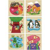 Dřevěné hračky Vilac Dřevěné kostky zvířátka 9 ks