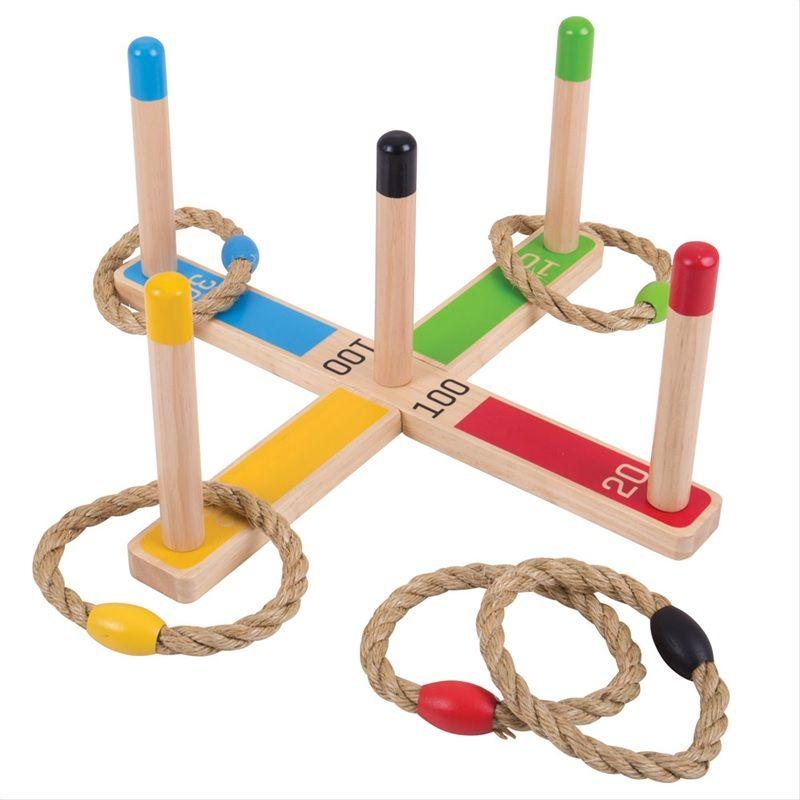 Dřevěné hračky Bigjigs Toys Házení kruhů