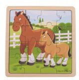 Bigjigs Toys puzzle - Kůň s hříbátkem