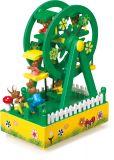 Small Foot Dřevěná hrací skříňka kolotoč