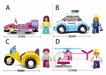 Dřevěné hračky Sluban Girls Dream Holidays M38-B0600 Dispaly - 4druhy / 8ks