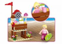 Dřevěné hračky Sluban Girls Dream Holidays M38-B0601 Surfařka
