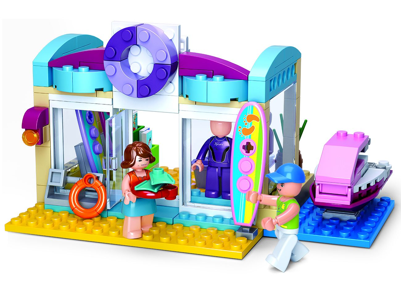 Dřevěné hračky Sluban Girls Dream Holidays M38-B0603 Obchod pro vodní sporty