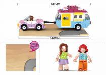 Dřevěné hračky Sluban Girls Dream Holidays M38-B0606 Auto s karavanem