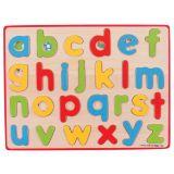 Dřevěné hračky Bigjigs Toys Anglická malá abeceda s obrázky