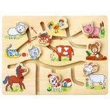 Dřevěné hračky Bino Najdeš správnou hlavičku?