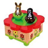 Dřevěné hračky Bino hrací skříňka Krtek