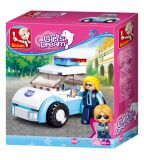 Dřevěné hračky Sluban Girls Dream Holidays M38-B0600B Policistka s vozem