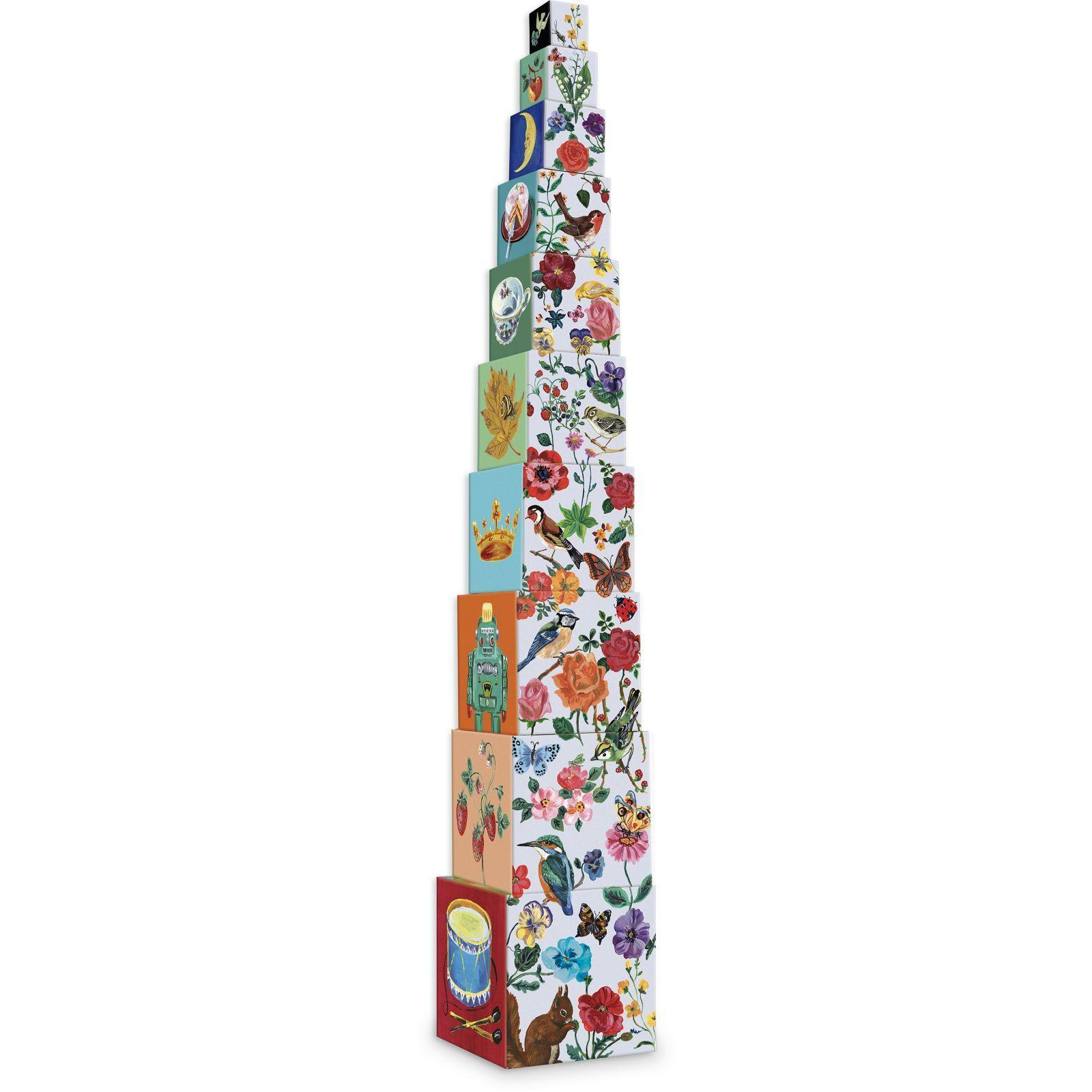Dřevěné hračky Vilac Skládací kostky Nathalie