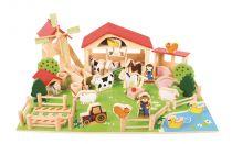 Dřevěné hračky Bigjigs Toys Velká dřevěná farma