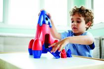 Dřevěné hračky Green Toys Raketa modrá