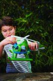 Dřevěné hračky Green Toys Vrtulník zelený