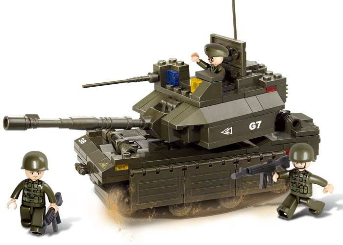 Dřevěné hračky Sluban Army M38-B0287 Tank M1A2-ABRAMS