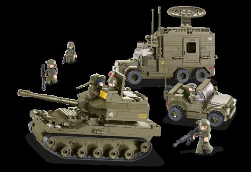 Dřevěné hračky Sluban Army M38-B0308 Elitní obrněná divize