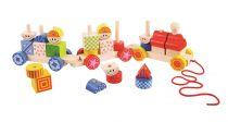 Dřevěné hračky Bigjigs Baby Dřevěný vláček s nasazováním Bigjigs Toys