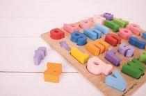 Dřevěné hračky Bigjigs Baby Dřevěné puzzle Abeceda malá písmena Bigjigs Toys