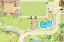 Le Toy Van Hrací koberec PLAYMAT zahrádka 150x100 cm