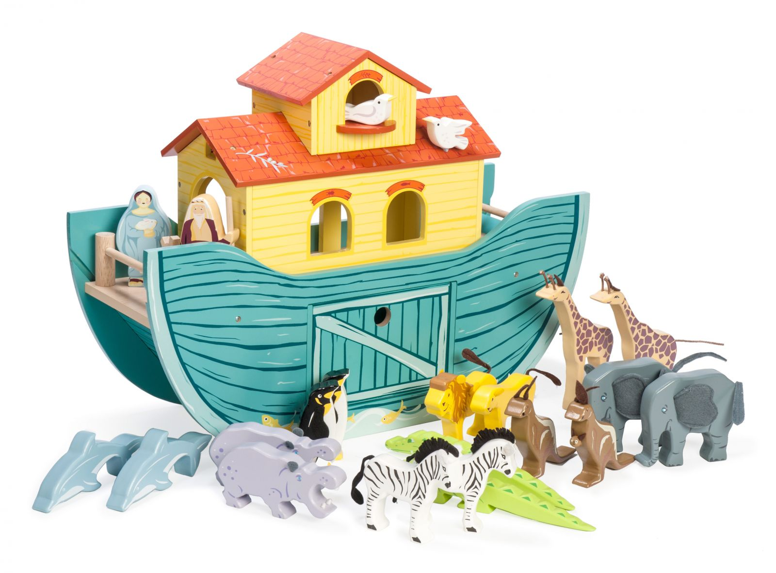Dřevěné hračky Le Toy Van Noemova archa