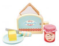 Dřevěné hračky Le Toy Van Toaster s příslušenstvím