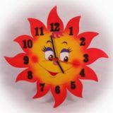 Dřevěné hodiny Slunce Jonáš