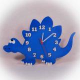 Dřevěné nástěnné hodiny Stegosaurus