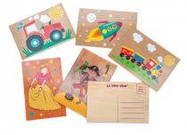 Le Toy Van pohlednice 1ks  vláček