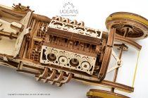 Dřevěné hračky Ugears Dřevěná stavebnice 3D mechanické Puzzle Auto U-9 Grand Prix