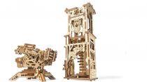 Ugears 3D dřevěné mechanické puzzle Věž Archballista