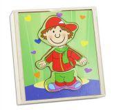 Vkládačka dřevěná oblečení - kluk