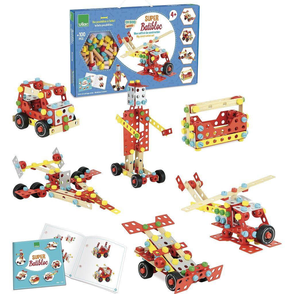Dřevěné hračky Vilac Stavebnice Super Batibloc
