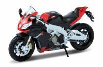 Dřevěné hračky Welly - Motocykl Aprilia RSV4 Factory model 1:18 červený