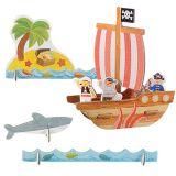Petitcollage 3D puzzle Pirátská loď
