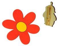 Veselý kolíček s dekorací - Krtkova kytička