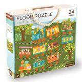 Petitcollage Podlahové puzzle počítání s vláčkem
