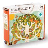 Petitcollage Podlahové puzzle přátele v koruně stromů